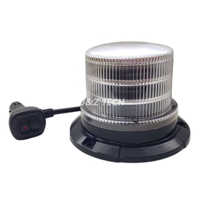 New Design 18 Flash Patterns 12V White Amber Traffic Strobe Led Beacon Light