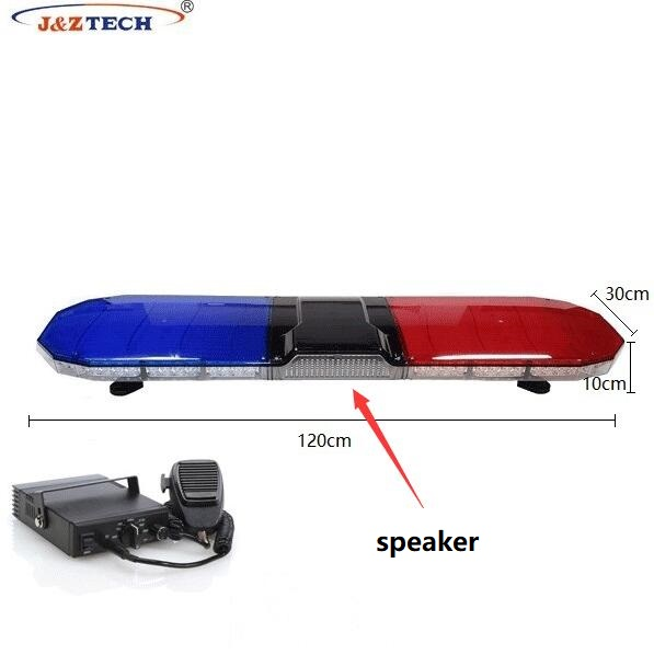 2019 Newest LED Dual Color Strobe Warning Lightbar with 100 Watt Speaker