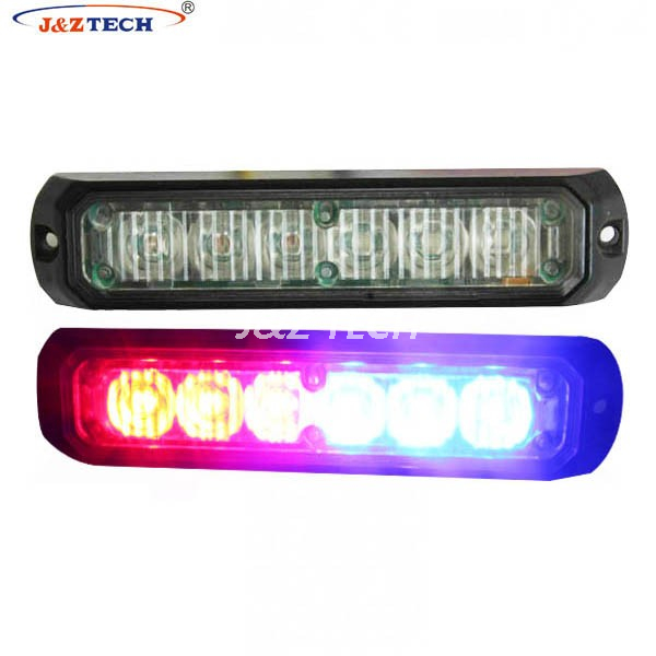 TIR 6 bulbs led ambulance warning lights car surface mount lighthead